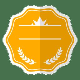 Badge label ribbon