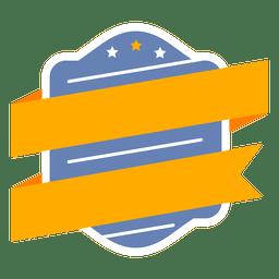 Badge label shield ribbon