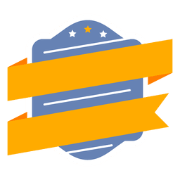 Cinta de escudo etiqueta insignia