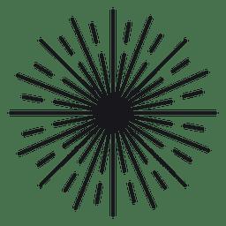Konzentrisches abstraktes rundes gezeichnetes starburst