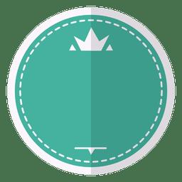 etiqueta emblema de la insignia