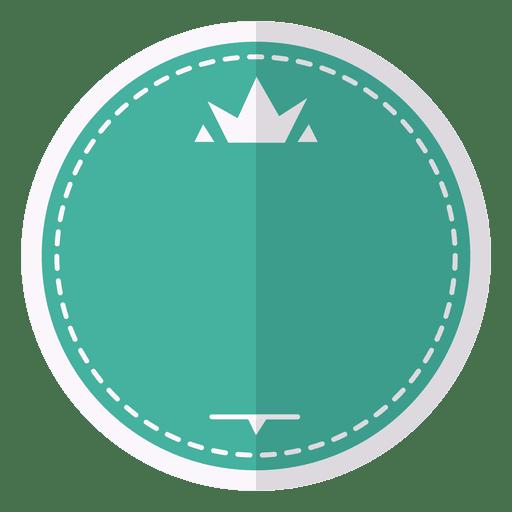 Etiqueta de la insignia del emblema