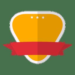 Rótulo de fita plana e colorida emblema