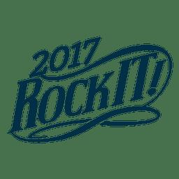 Label 2017 new year badge