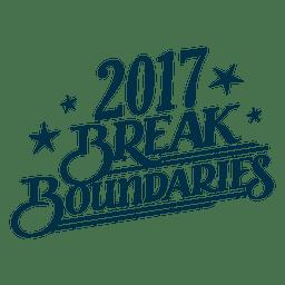 Bremse Grenzen Neujahrsabzeichen