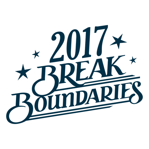 Brake Boundaries New Year Badge Transparent PNG