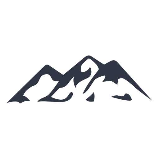 Mountain climbing silhouette icon Transparent PNG