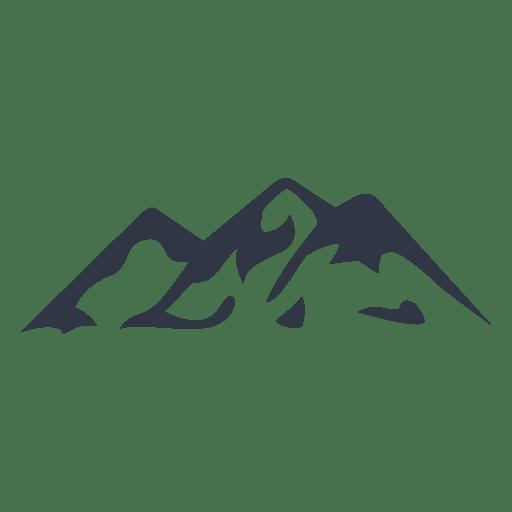 Mountain climbing silhouette icon