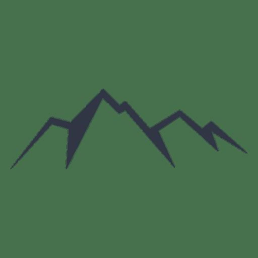 Four peak mountain icon Transparent PNG