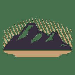 emblema etiqueta Montanha