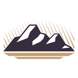 Mountain label badge