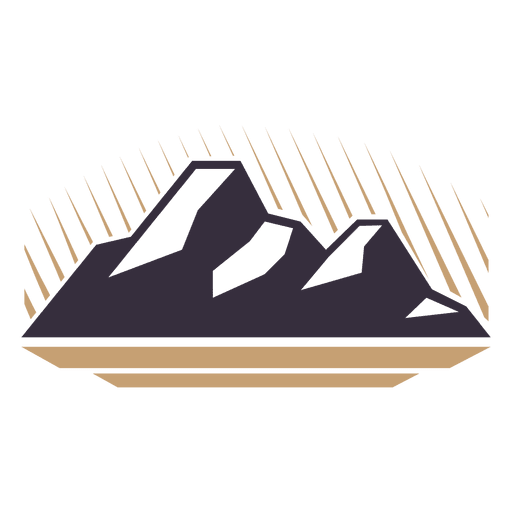 Insignia de etiqueta de montaña