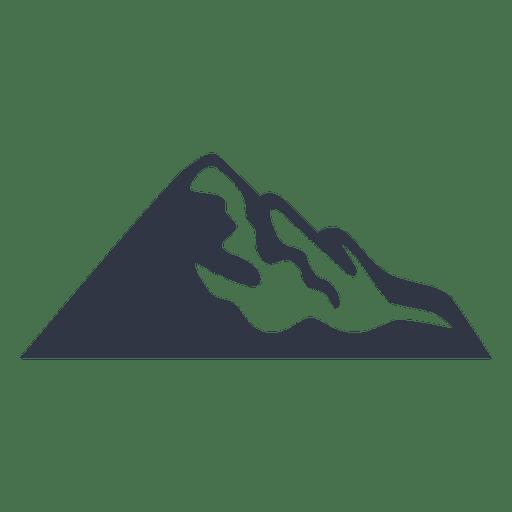 Senderismo en la nieve de montaña