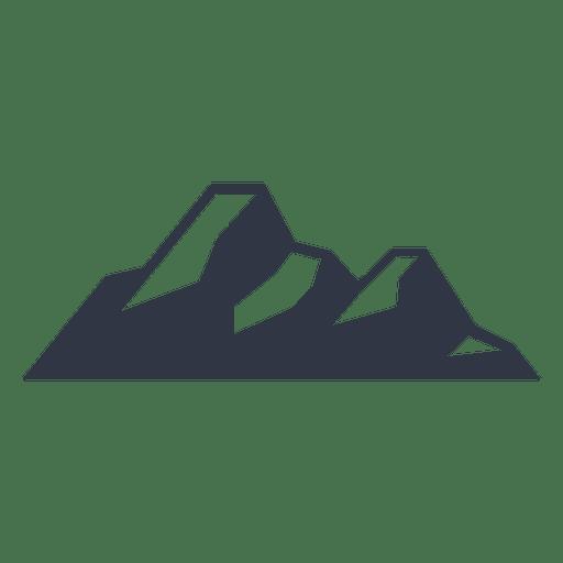 Snow mountain climbing silhouette