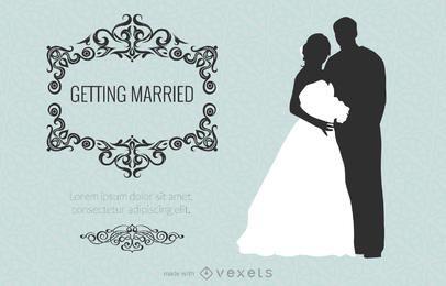 Design de fabricante de cartão de casamento