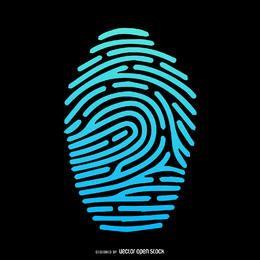 Fingerprint silhueta ilustração gradiente