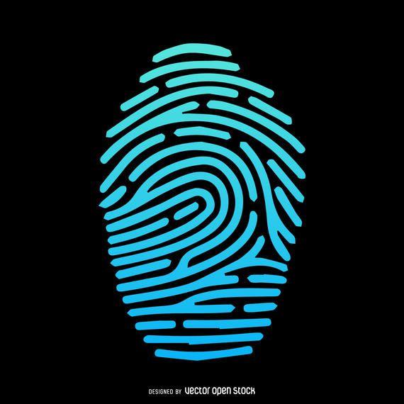 Fingerprint illustration gradient silhouette