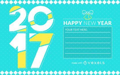 2017 fabricante de la tarjeta de Año Nuevo