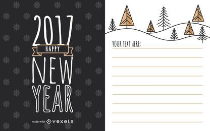 Cute 2017 New Year card maker