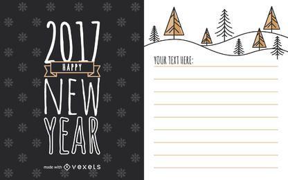 fabricante de la tarjeta linda del Año Nuevo 2017