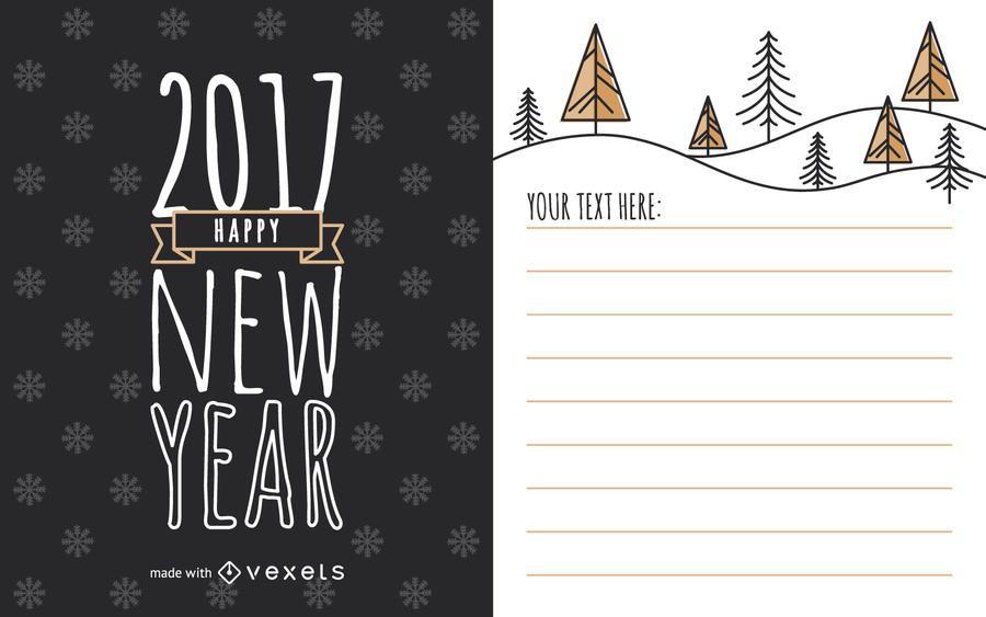 Bonito 2017 ano novo fabricante de cartão