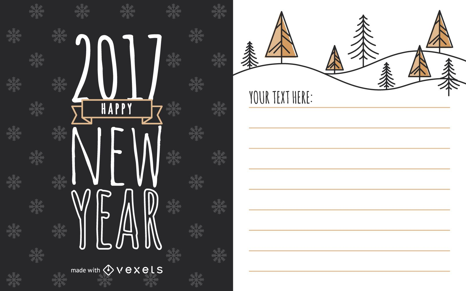 Lindo creador de tarjetas de a?o nuevo 2017