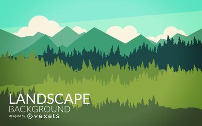 Flat nature landscape design