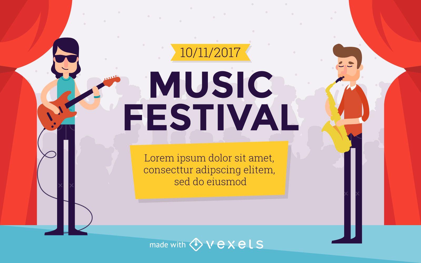 Criador de pôster do Festival de Música