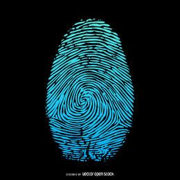 Fingerprint flat illustration design