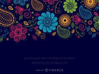 editor de mensajes floral de Paisley