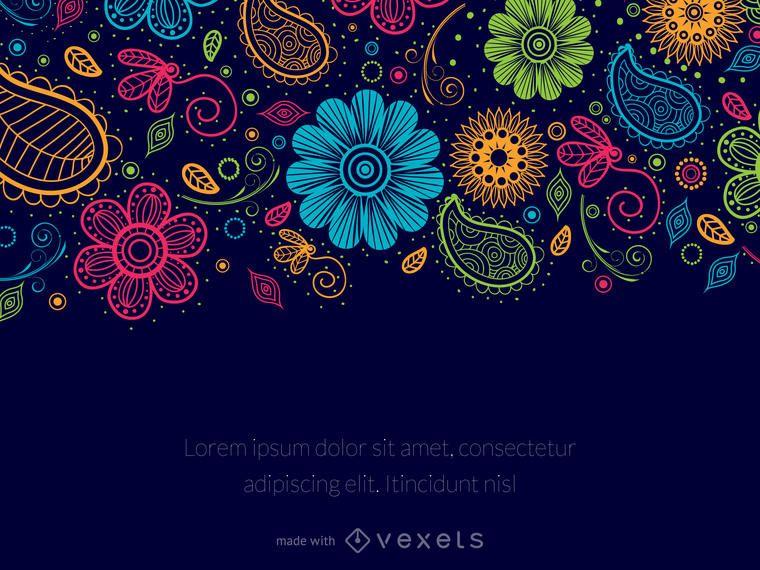 Editor de mensagem floral de Paisley