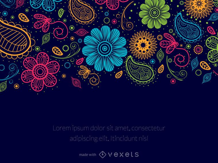 Editor de mensagem floral Paisley