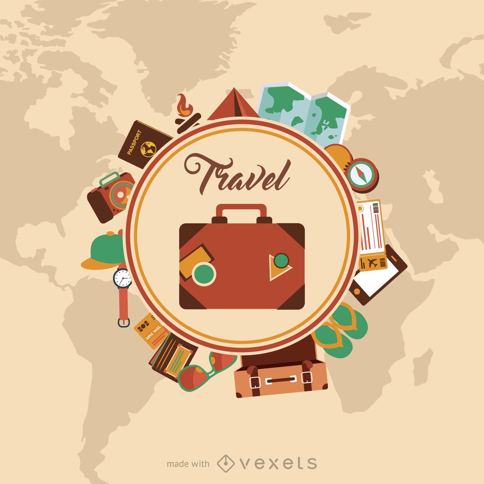 Creador de folletos de viajes circulares