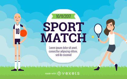 Cartoon Sport Flyer Schöpfer