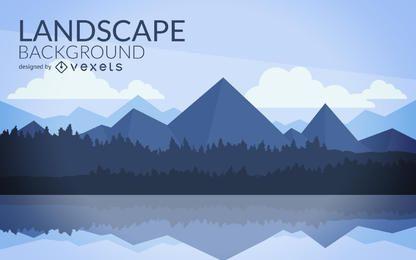 Design de paisagem de montanha plana