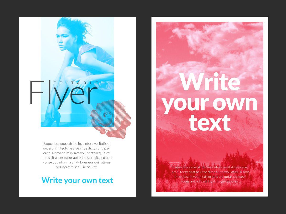 Creative artistic flyer maker
