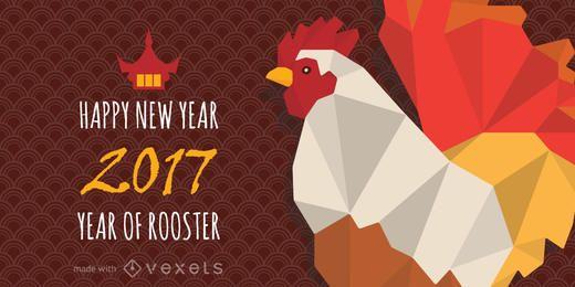 2017 año del fabricante de pancartas Rooster