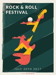 Fabricante de carteles del festival de música.