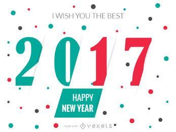 2017 criador de cartaz de Ano Novo