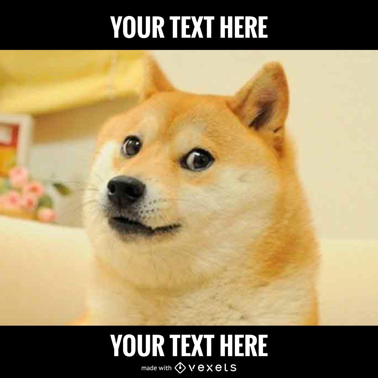 Dog meme generator