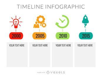 Lanzar fabricante de infografía línea de tiempo