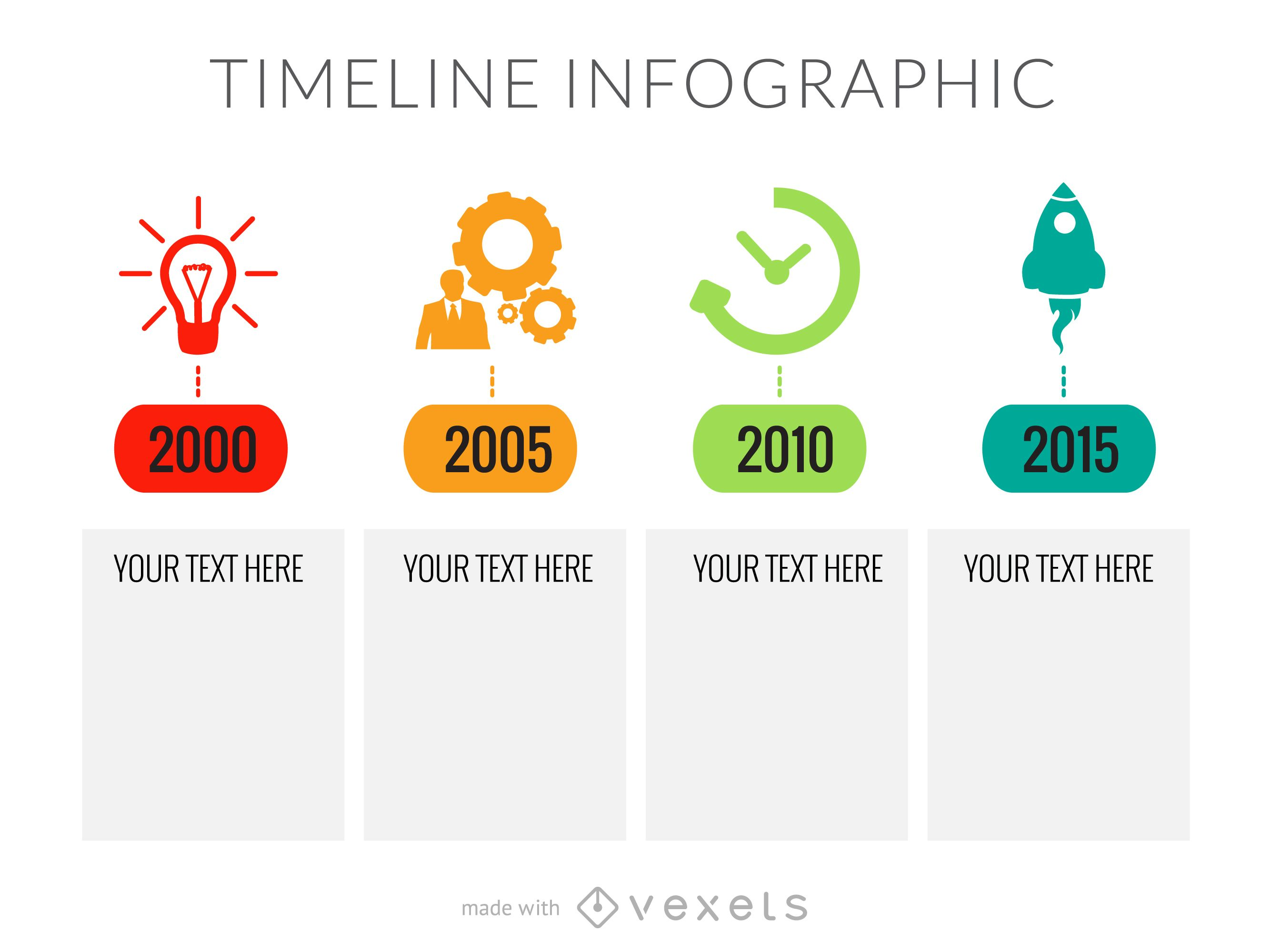 Flat timeline infographic template - Vector download