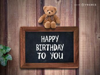Feliz aniversário saudação maker