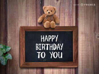 Feliz cumpleaños saludo fabricante