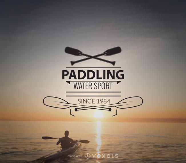 Paddling logo template maker