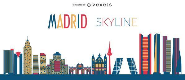 Silueta de horizonte plano de Madrid