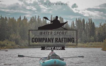 Etiquetadora de logotipo de rafting