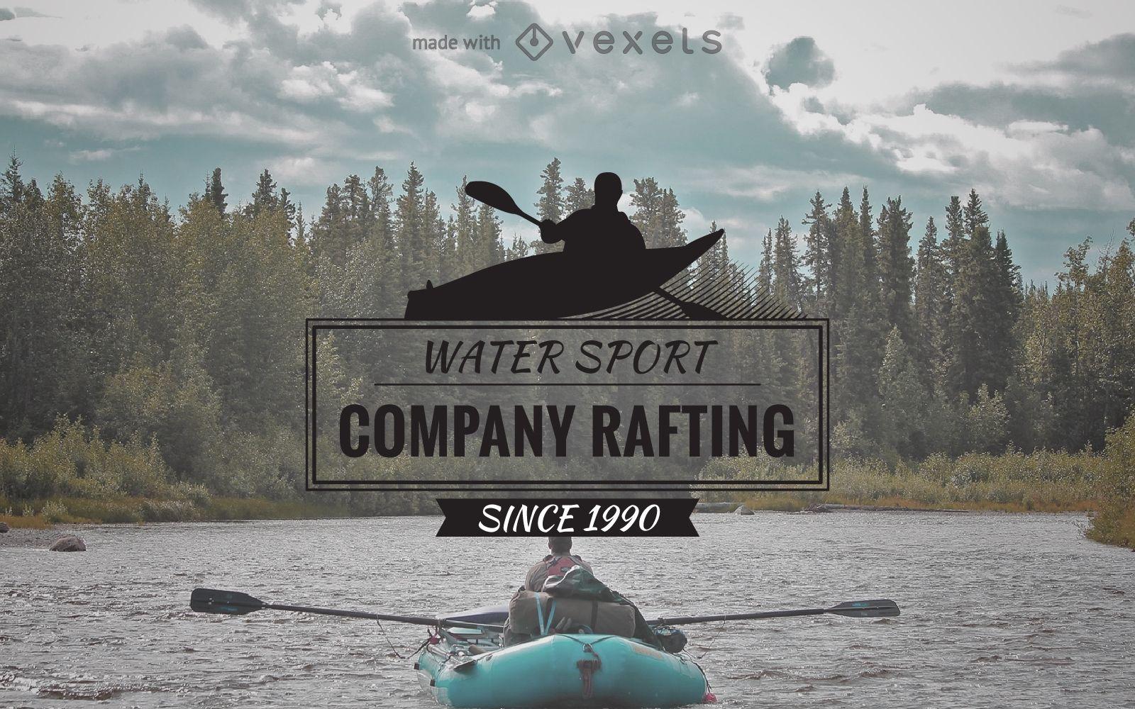 Rafting logo label maker