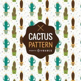 Patrón de cactus o fondo