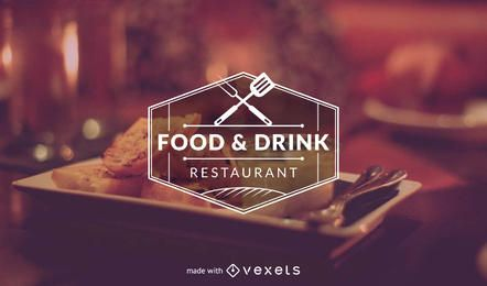 Restaurante fabricante de logotipo de la plantilla
